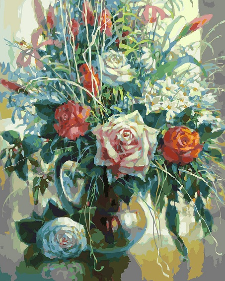 Натюрморт с белой розой (Белоснежка) купить c доставкой в ...